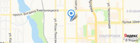 ДонВест на карте Донецка