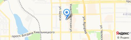 РЭКОМ на карте Донецка