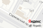 Схема проезда до компании Шиномонтажная мастерская на Сормовском проезде в Москве