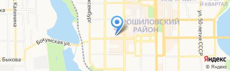 Bassano на карте Донецка
