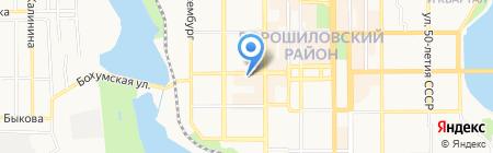 ЗЛАГОДА на карте Донецка