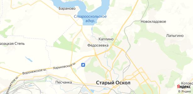 Федосеевка на карте