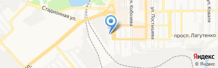 Абразив-центр на карте Донецка