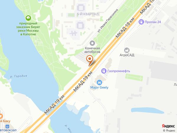 Остановка «Алексеево», 18-й километр Московской Кольцевой Автодороги (8412) (Москва)