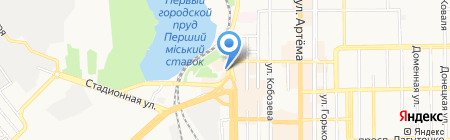 Киоск по продаже шаурмы на карте Донецка