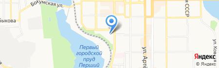 КуражВояж на карте Донецка