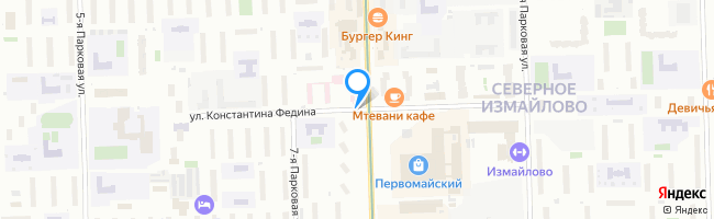 улица Константина Федина