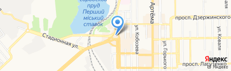 Мяскоff на карте Донецка