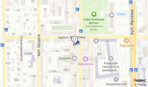 Классик. Схема проезда в Донецке