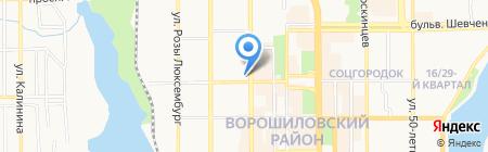 Uncia на карте Донецка