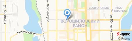 ВУСО на карте Донецка