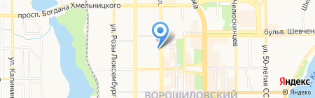 ВТБ БАНК ПАО на карте Донецка