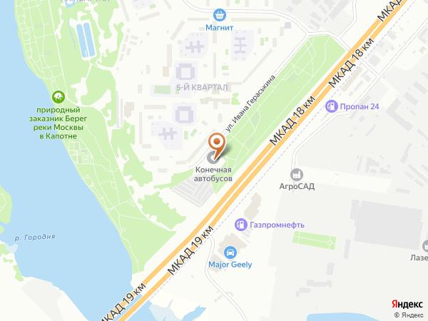 Остановка Капотня (к/ст) в Москве