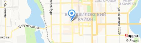 Обжора на карте Донецка