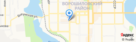 Баччо на карте Донецка