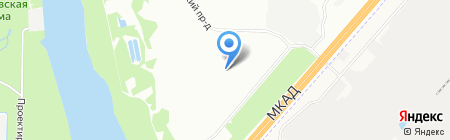 Капотня на карте Москвы
