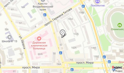 Киоск по изготовлению ключей. Схема проезда в Донецке