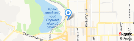 Детский сад №50 на карте Донецка