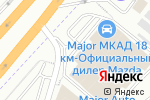 Схема проезда до компании Major Hyundai в Дзержинском