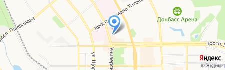 Мир на ладони на карте Донецка