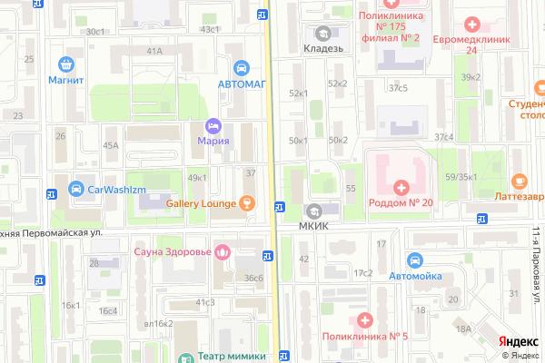 Ремонт телевизоров Улица 9 я Парковая на яндекс карте