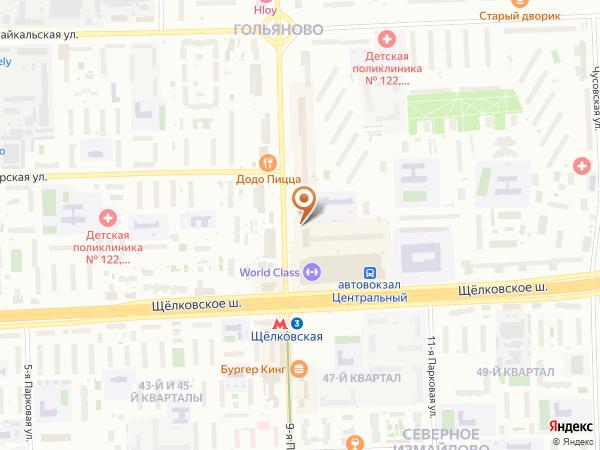 Остановка Метро Щелковская (к/ст) - врем. в Москве