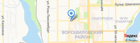 Молодость на карте Донецка