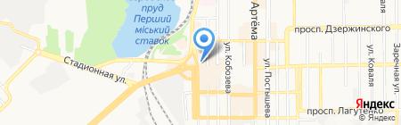 Пункт обмена валют на карте Донецка
