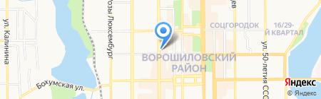 Детский сад №44 на карте Донецка