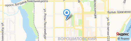 Райффайзен Банк Аваль ПАО на карте Донецка