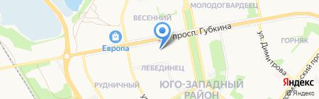 УКБ Белгородсоцбанк на карте Старого Оскола