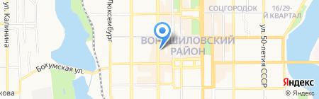Белиссимо на карте Донецка
