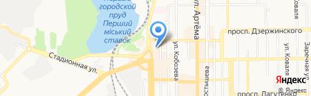 Центральный ПО на карте Донецка
