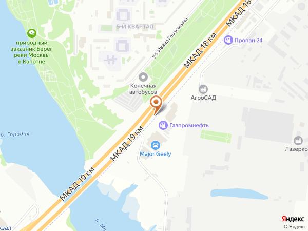 Остановка «Алексеево», 18-й километр Московской Кольцевой Автодороги (7812) (Москва)
