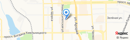 Звездочка на карте Донецка