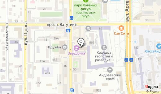 Кинокофейня им. А. Ханжонкова. Схема проезда в Донецке