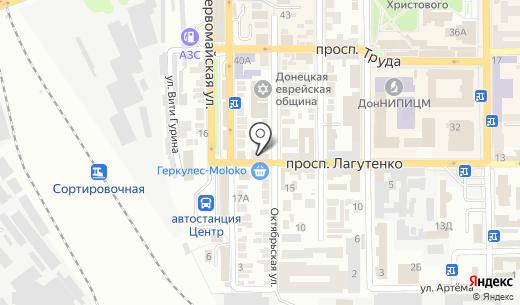 Коммунальное предприятие зеленого строительства Ворошиловского района г. Донецка. Схема проезда в Донецке