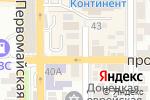 Схема проезда до компании Интерьер в Донецке