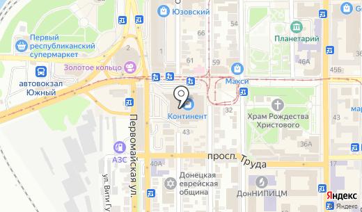 Киевстар ДжиЭсЭм. Схема проезда в Донецке