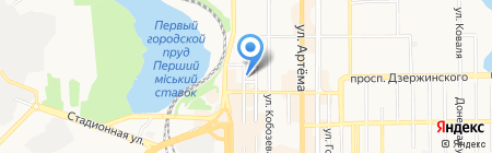 ERBI на карте Донецка