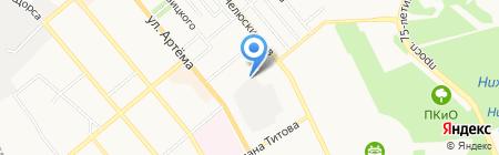 Вода Донбасса на карте Донецка