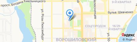 НАСТА на карте Донецка