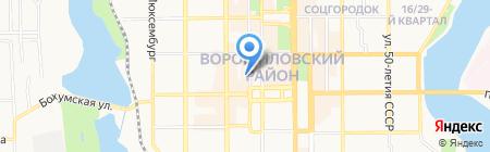 Domino Pop-up на карте Донецка