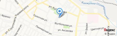 Гол и К на карте Донецка