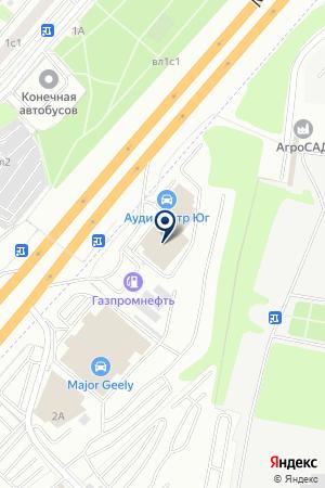 АВТОСЕРВИСНОЕ ПРЕДПРИЯТИЕ АУДИ-ЦЕНТР на карте Дзержинского