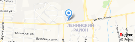 Промтех-ресурс на карте Донецка