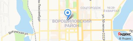 Боржоми на карте Донецка