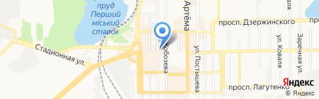 Всё по 10 на карте Донецка