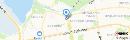 Стойленская Нива на карте Старого Оскола