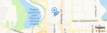Политех на карте Донецка